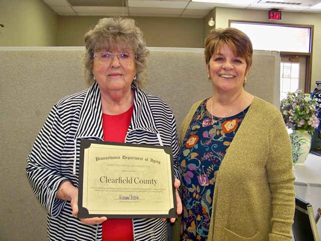 PA Aging Secretary Congratulates Clearfield County APPRISE