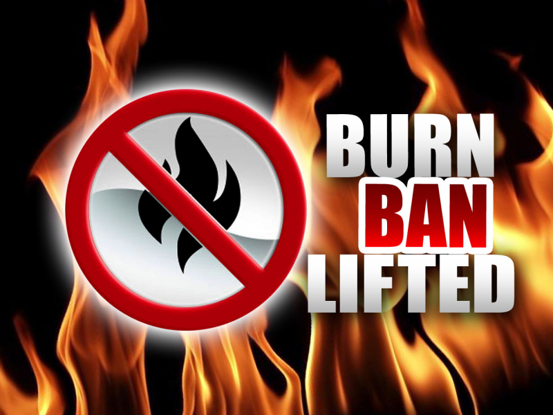 JUST IN: Burn Ban Lifted in Lawrence Twp.