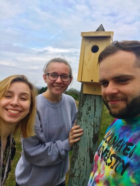 LHU Clearfield Students Install Bluebird Boxes