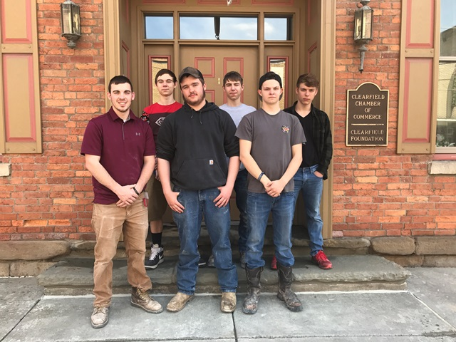 CCCTC Students Perform Restoration Work at Clearfield Chamber