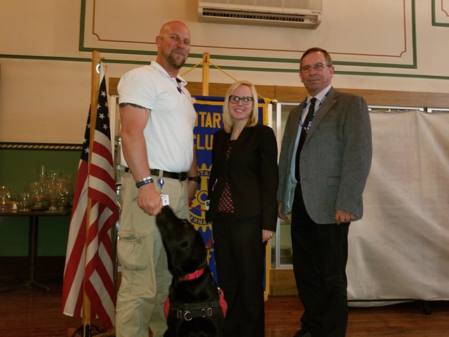 Clearfield Rotary Hears Presentation on U.D.S. Service Dogs