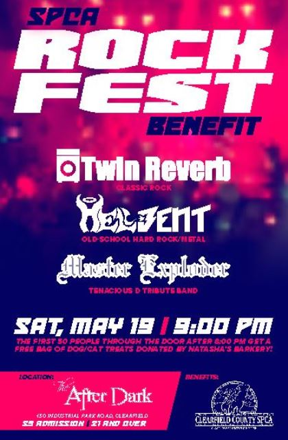 Rockfest to Benefit Clearfield Co. SPCA