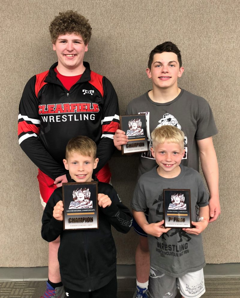 Clearfield Wrestlers McGonigal, Rowles win MAWA Eastern Nationals