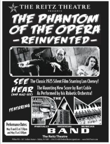 Coble to Present The Phantom of the Opera Reinvented at Reitz Theater