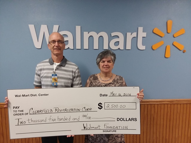 Clearfield Revitalization Corp. Receives Grant from Wal-Mart