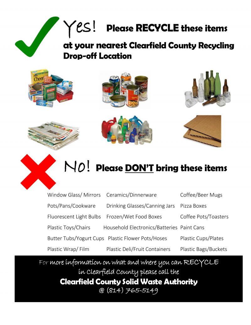 Recycling Contamination a Problem in Clearfield County