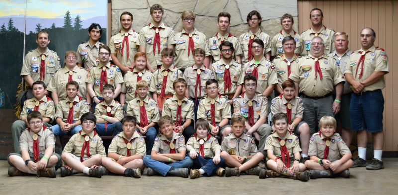 Boy Scouts Attend Summer Camp at Camp Mountain Run