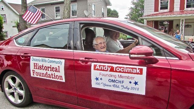 Osceola Mills Community Historical Foundation Honors Andy Tocimak