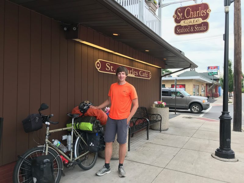 Touring Cyclist in Pursuit of Biking Around the World Stops in Clearfield