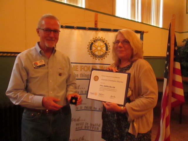 Clearfield Rotarian Given Paul Harris Award