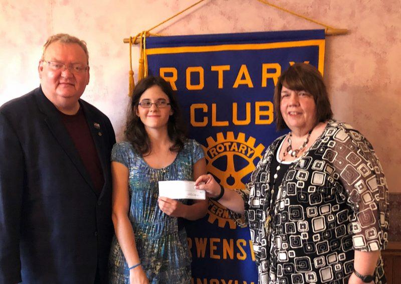 Curwensville Rotary Welcomes Scholarship Recipient
