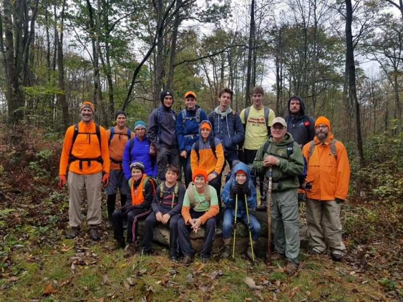 Scouts Hike with Two-Time Appalachian Trial Thru-Hiker