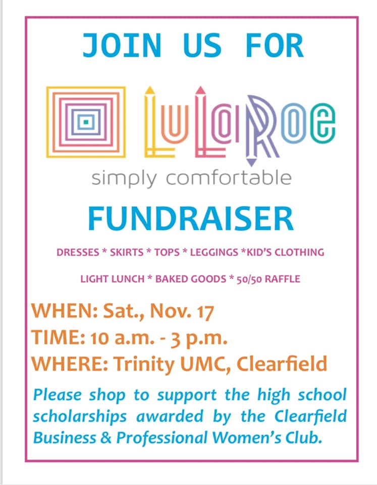Clearfield BPW to Hold Lularoe Fundraiser
