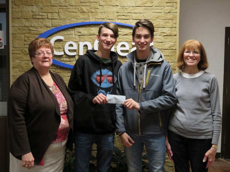 Cen-Clear Receives Donation for Sensory Station