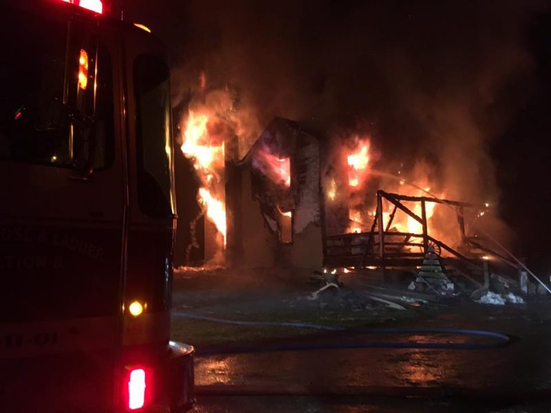 Fire Destroys Knox Twp. Home