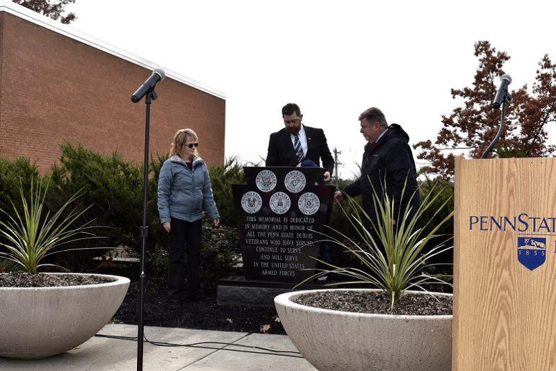 Memorial Dedicated During Penn State DuBois Veterans Day Ceremony