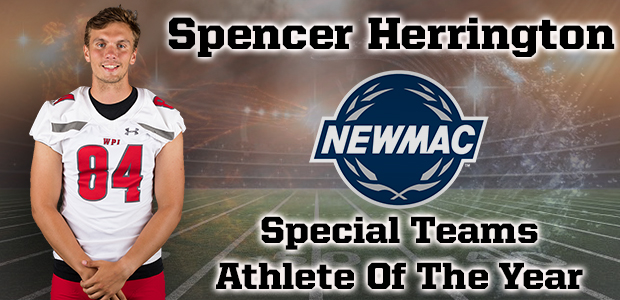 Campus Corner: Herrington Named NEWMAC Special Teams Athlete of Year Again; Stubbs Is Repeater on All-MAC First Team; Jones Selected to All-AMCC Third Team