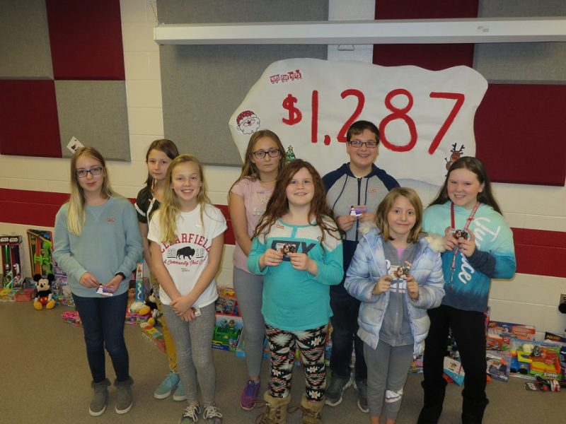Clearfield Sixth-graders Raise Funds for Toys for Tots