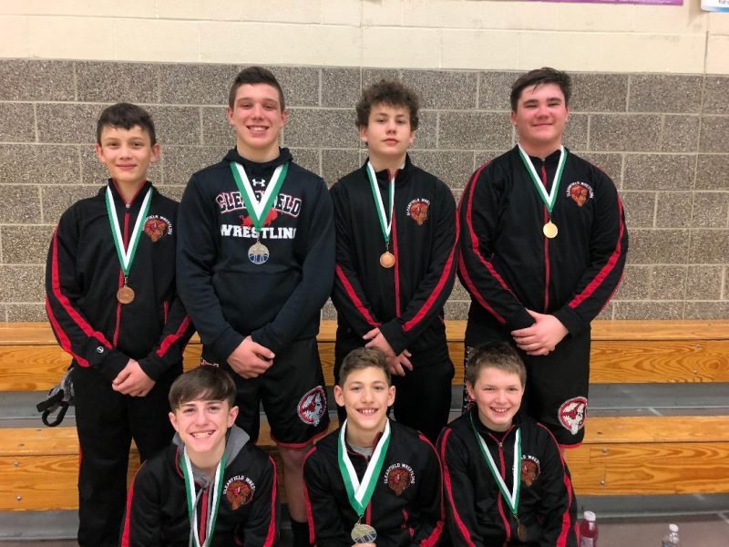 Bison Junior High Wrestling Team Seventh at South Fayette Tourney