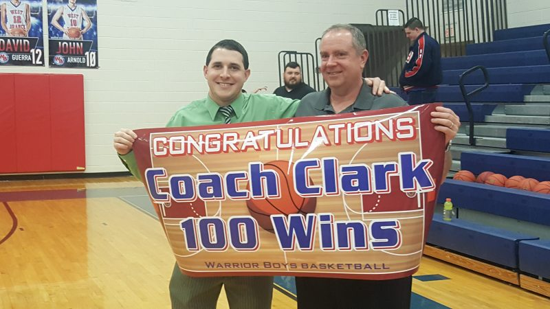 West Branch Defeats Curwensville, Gives Clark 100th Career Victory