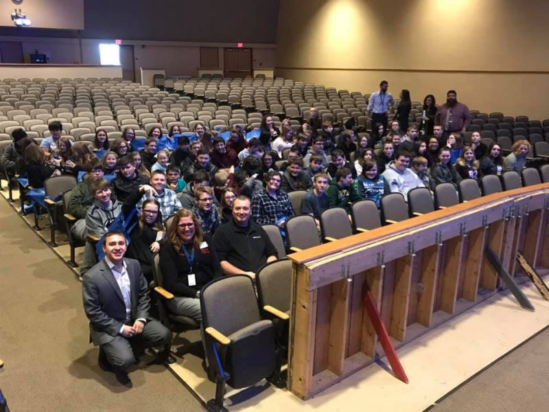 Curwensville Students Hear About Local Career Options with Wal-Mart