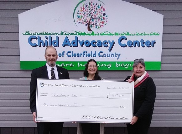 CCCF Awards Funds to Child Advocacy Center