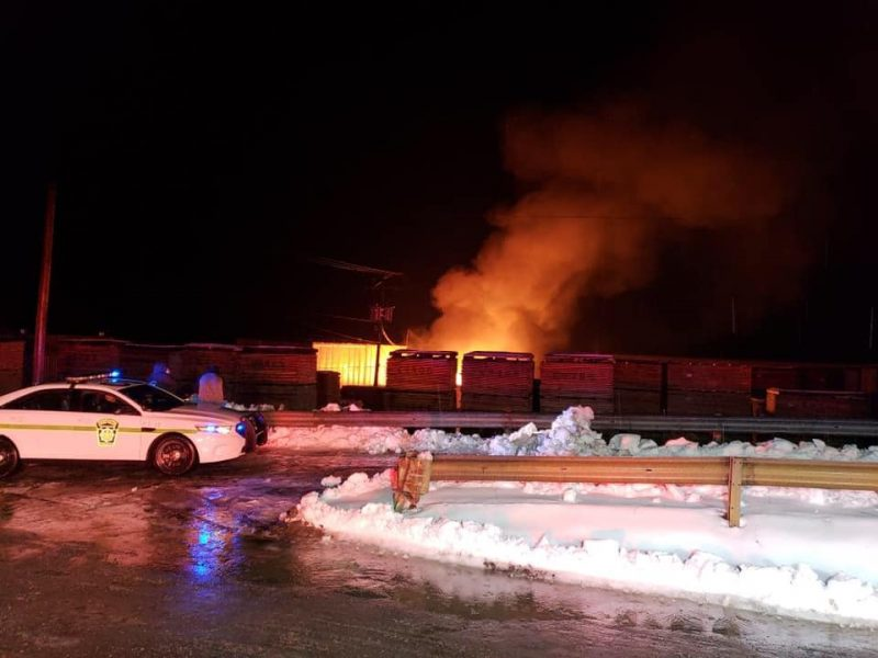 Fire Causes Estimated $1 Million in Damage at Walker Lumber