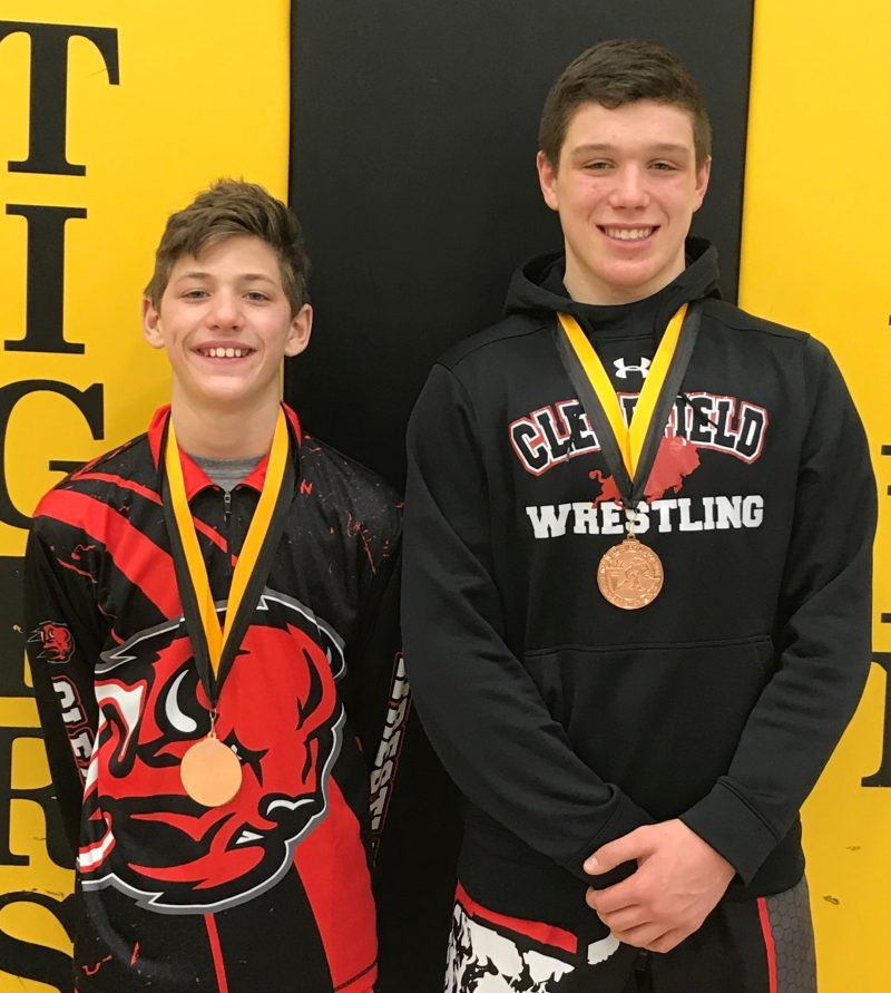 Clearfield JH Wrestlers Compete at North Allegheny