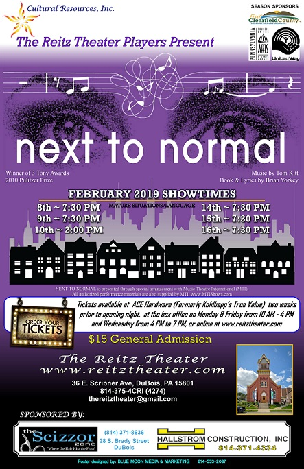 Reitz Theater to Present Next to Normal
