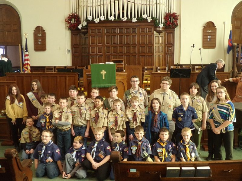 Church Holds Annual Scout Sunday Ceremony