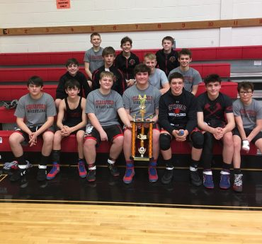 Clearfield Junior High Wrestling Team Places Second at Harley Duals