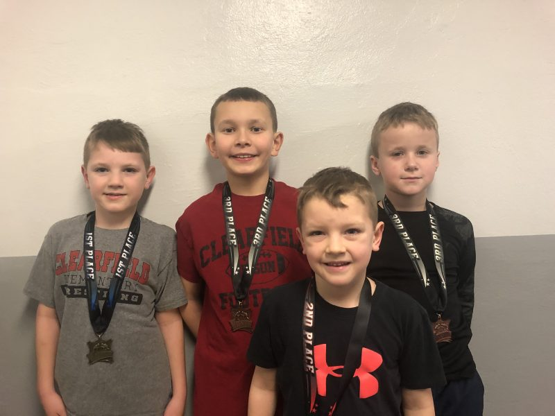 Clearfield Youth Wrestlers Place at Penns Valley Tourney
