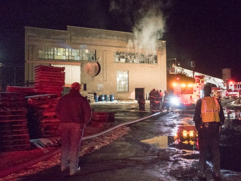 Crews Battle Fire at Clearfield Machine