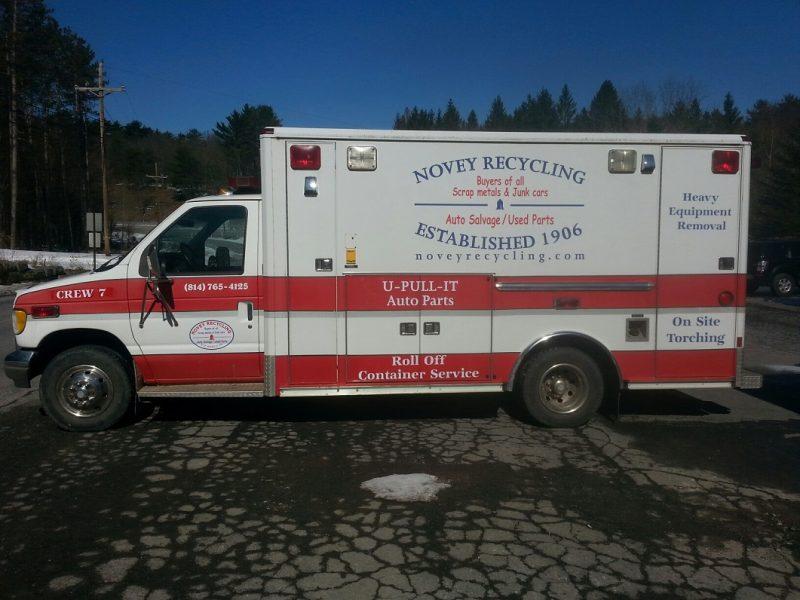 Novey Recycling Re-purposes Ambulance Vehicle