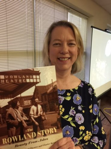 Inlow Presents Book on Rowland Theatre at Library Book Talk