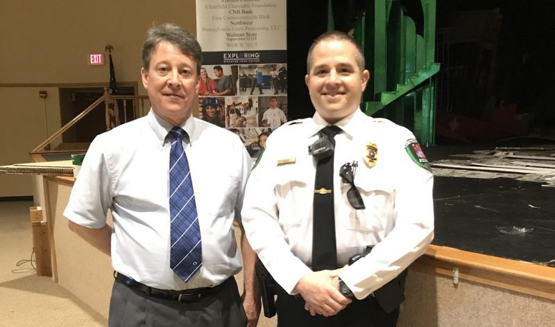 Exploring Students Hear from Judge Ammerman, Curwensville Police Chief