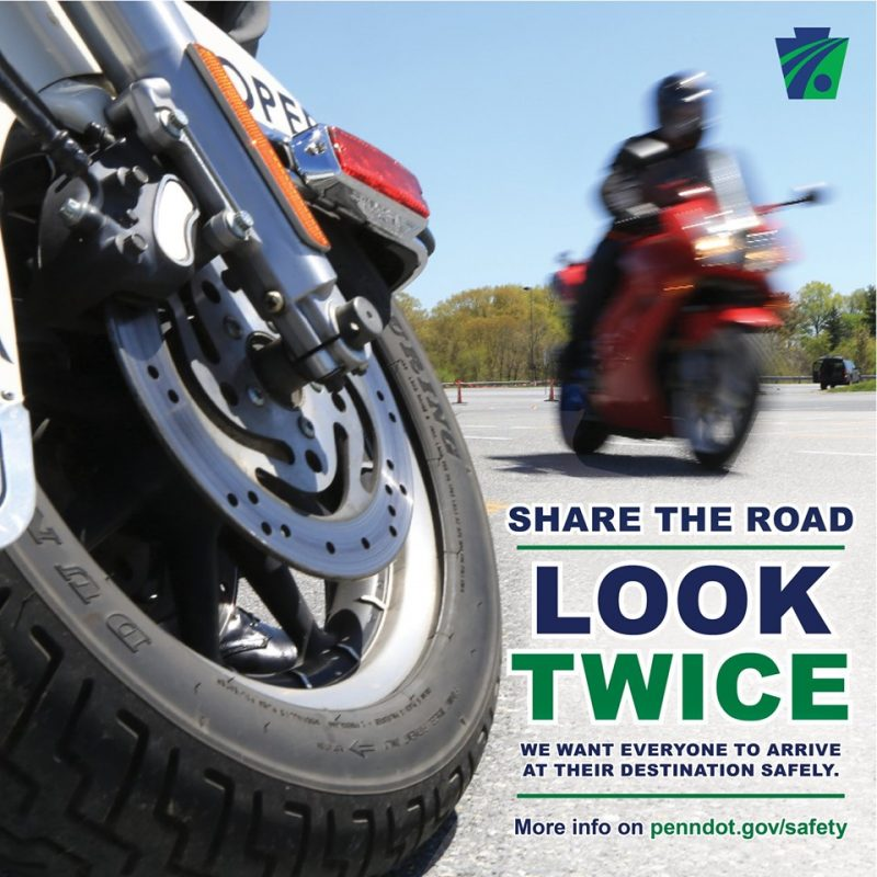 PennDOT, DuBois City Police Urge Drivers to Share the Road with Motorcyclists