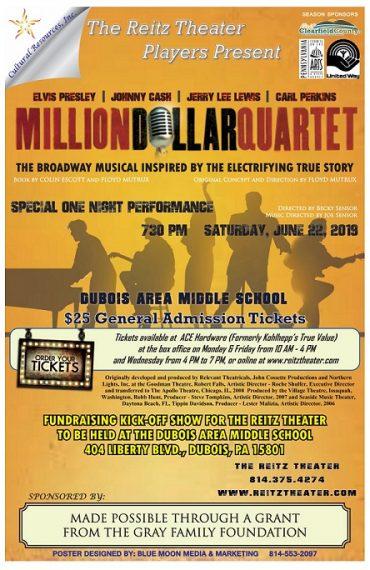 Reitz Theater Players to Present Million Dollar Quartet