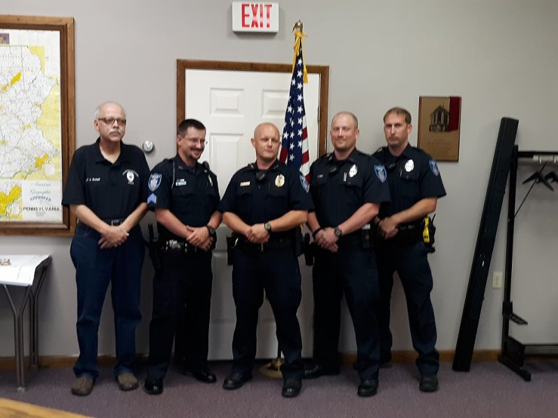 3 Clearfield Borough Police Officers Receive Promotion