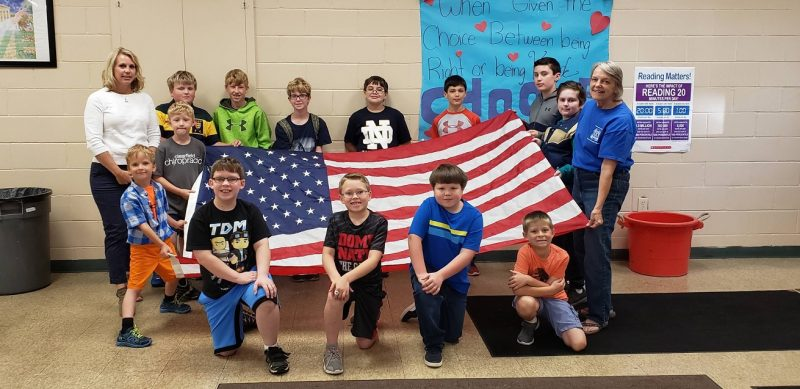 St. Francis School Presented with New Flag