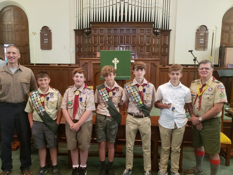 Clearfield Boy Scouts Receive Honors