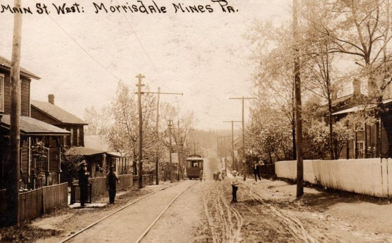 Throwback Thursday: Trolley Car Makes Its Way Through Morrisdale