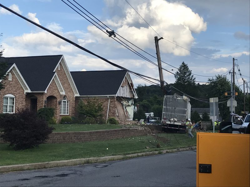 More Details Released on Tractor-Trailer Crash into Clearfield Home