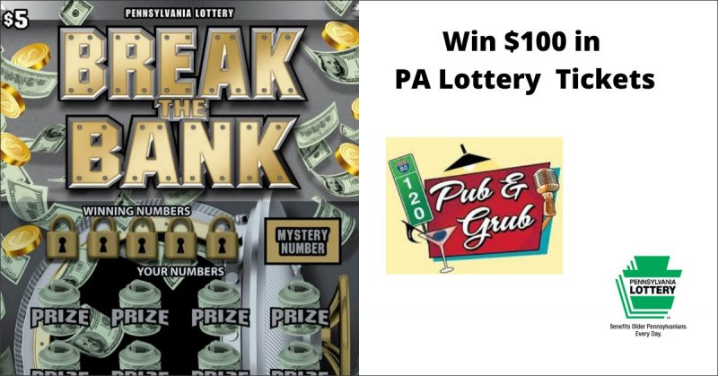 Contest: Live Break the Bank PA Lottery Drawing to be Held Saturday