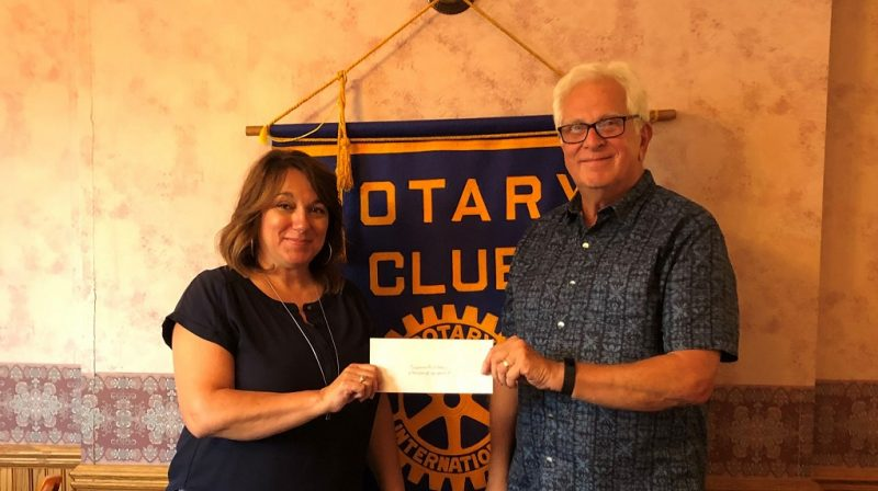 Curwensville Rotary Donates to Irvin Park Inclusive Playground Project