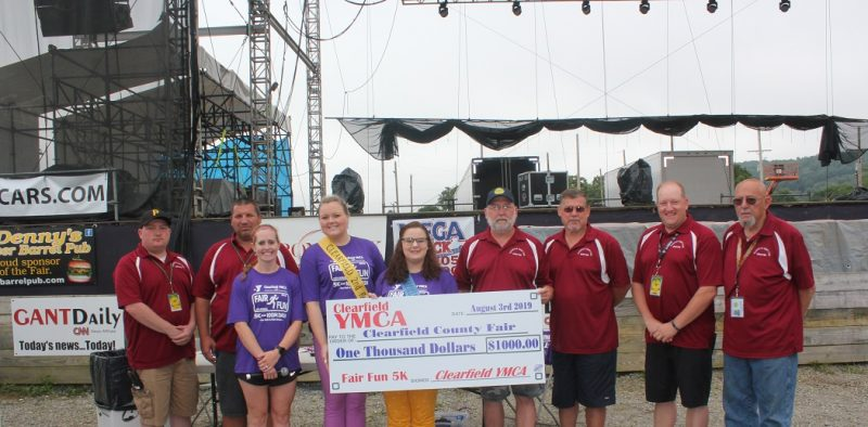 YMCA Presents $1,000 to Fair & Park Board