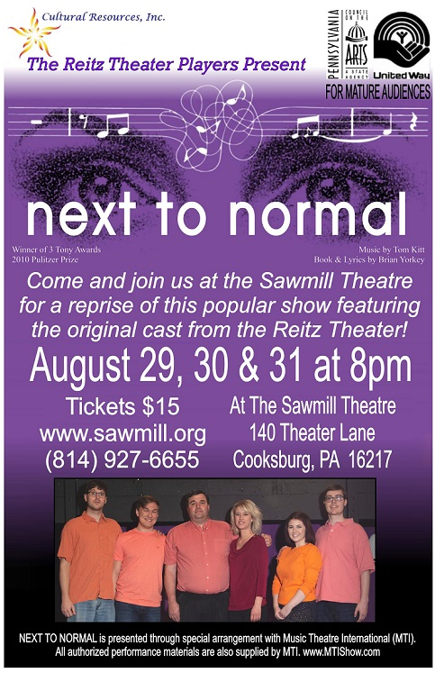Reitz Theater to Present Next to Normal on Sawmill Theatre Stage in Cooks Forest