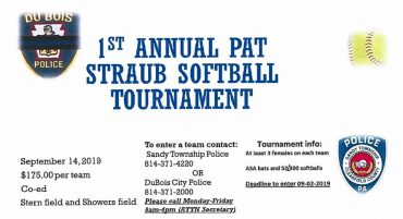 Inaugural Patrick Straub Softball Tournament is Sept. 14