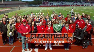Bison Alumni Band Performs at Homecoming Football Game