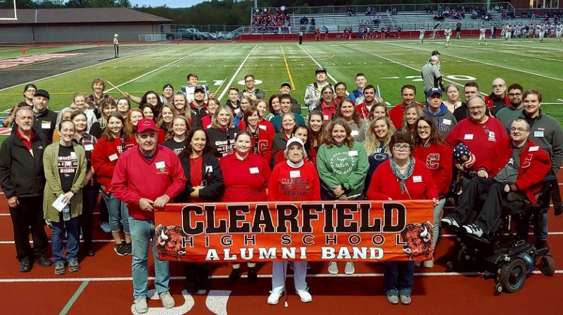 Bison Alumni Band Performs at Homecoming Football Game